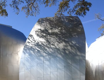 Ohr-O'Keefe Museum of Art with skins featuring Angel Hair Stainless Steel.