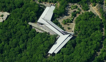 Aerial photograph of the IBM Headquarters in Armonk, New York.