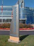 Additional metal signage at Cerner Headquarters.