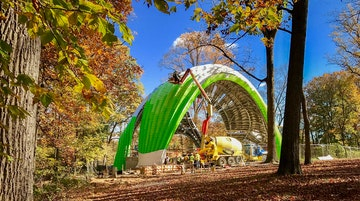 Chrysalis greenery sculpture marc fornes