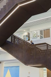 Interior staircase metalwork for Capitol Federal Hall.