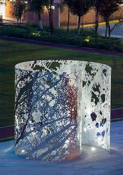 Milled aluminum public art