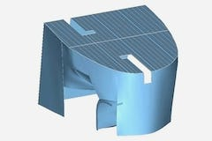 3D Model of the scanned physical model for Turbulence House.