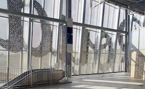 Perforated interior screen for Kauffman Stadium.