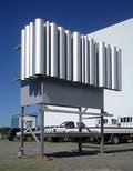 Aluminum mockup for Wyly Theatre.