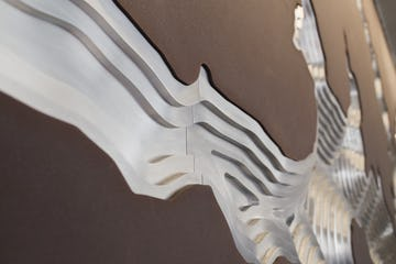 Details of the joints for the art wall at the Hyatt Regency Hotel in Houston.