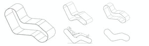 Zahner patented Spring Chair seating system images.