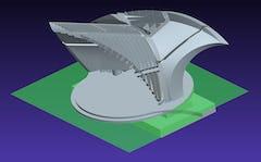 Digital model for the Town Park Pavilion and Bandshell by John Medwedeff