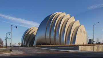 Kauffman Center designed by Moshe Safdie.