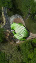 Aerial photo of The Chrysalis in Columbia, Maryland.