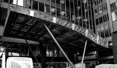Construction photo of the Michigan Avenue Plaza awning in Chicago.