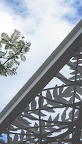 The Jan Hendrix canopy mirrors the surrounding plant life at Aguascalientes.