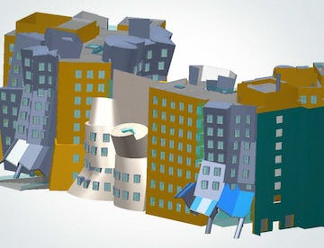 CAD rendering for MIT Stata Center.