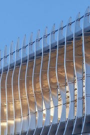 Open-air infill between CloudWall fins.