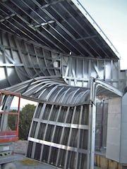 Internal rib system prior to drywall.