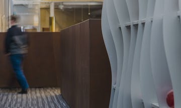 Interior office partitions made in Solanum Steel.
