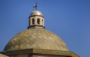 Roano Zinc used in a historic context for the Dome on the Plaza.