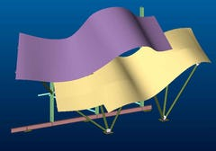CAD image of the Guggenheim Canopy.