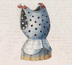 15th century medieval cuirass used in special tournaments and festivals, perforated for its lighter weight and ventilation.