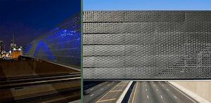 Perforated metal bridge