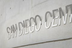 Custom signage system for San Diego Central Library designed by Luce et Studio.