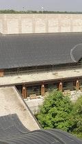 Aerial kansas city roof