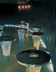 Bar tables at the Felix Restaurant
