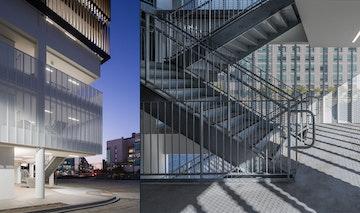 Ucsf perforated mesh parking garage