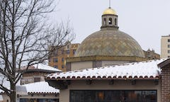 Photograph of the Dome on the Plaza after decade of aging.