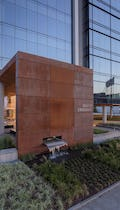 Weathering steel canopy for Gulch Crossing in Nashville.