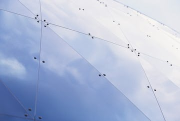 Detail of the MOSI dual curvature roof panel system.