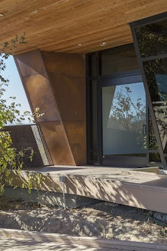 Detail of the South entrance to the Trinity River Audubon Center.