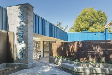 North entrance for Washington Elementary School in Sacramento.