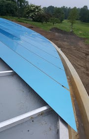 Details of the Grace Farms roof system during construction