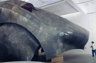 Frank Gehry Horse sculpture at Gagosian Gallery.