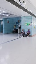 """Tsing Yi """"Teal"""" color inside the interior spaces of Tsing Yi Terminal."""