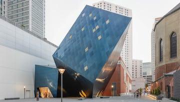 Contemporary jewish museum facade