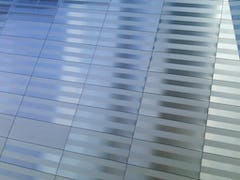 Detail of the National September 11 Museum stainless steel surface