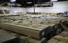 Photograph of the storage facility, which shows the 4,400 fins used for UCSF.