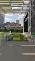 Winspear Opera House and Strauss Square outdoor performance space.