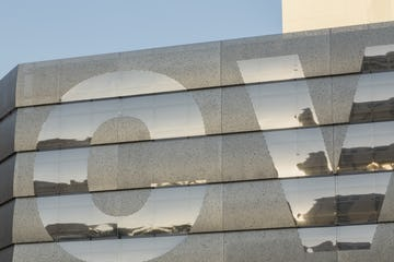 Detail of the stainless steel panels for CVS Pharmacy, Las Vegas