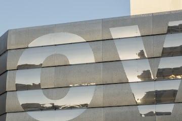 Detail of the stainless steel panels for CVS Pharmacy, Las Vegas