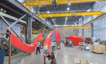 Zahner fabricators create massive ZEPPS panel assemblies in the Kansas City shop.
