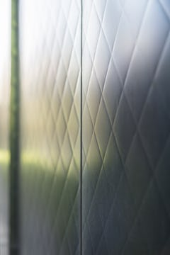 Detail of the interference stainless steel at Team Disney Anaheim.