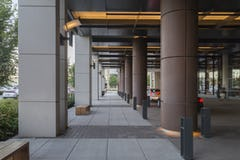 Solanum Steel column covers at the Omni Hotel in Nashville.