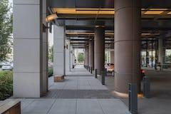 Solanum Steel column covers at the Omni Hotel in Nashville.