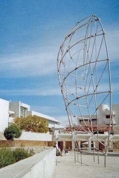 That Profile by Martin Puryear. Stainless steel and bronze sculpture.
