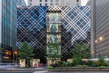 Elevation view of the Burberry Chicago flagship store.