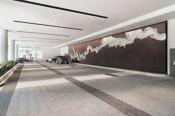 Art wall at the Hyatt Regency Hotel in Houston.