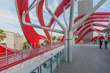 Roof of the Petersen Automotive Museum.